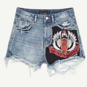 Zara Guns N Roses Shorts